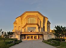 Goetheanum, Dornach Suisse this was one of the most fantastical spaces i've ever been in.....located in the constellation od the 2 water signs Pisces and Scorpio which stand for the Sun sign (Pisces) and Ascendant in Rudolf Steiners birth chart. Valid for radius/field level 4 which describes the building itself.