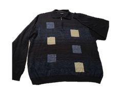 Sweater Hajo Azul Talla L: Sweater marca Hajo con medio cierre colo azul con cuadros de colores Sweaters, Fashion, Babydoll Sheep, Blue Line, Blue Nails, Sweater Vests, Shirts, Colors, Moda