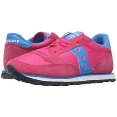 100% authentic 8dfc3 085f2 Saucony Originals Jazz Low Pro (Pink Blue) Women s Classic Shoes ( 55) ❤  liked on Polyvore featuring shoes, blue color shoes, grip shoes, laced up  shoes, ...