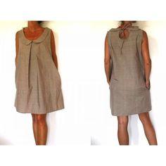 Patron de couture - Robe col claudine et goutte dans le dos