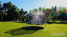 Amazon.com: Trampoline Waterpark - Kids Fun Summer Outdoor Water Game Sprinkler - Toys for Boys Girls and Adults - Accessories Included - Toy Attaches on Safety Net Enclosure - Made in The USA: Sports & Outdoors