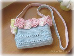 かぎ針編みのポシェットとヘアゴム - Crystal Garden