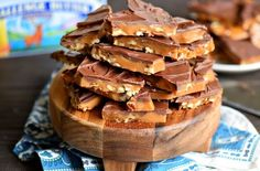 The best toffee recipe EVER! Sweet milk chocolate, crunchy pecans, and rich, buttery toffee - what's p to love? This Better Than Anything Toffee is easy to make and makes the perfect treat OR gift year-round! // Mom On Timeout Candy Recipes, Cookie Recipes, Snack Recipes, Dessert Recipes, Holiday Baking, Christmas Baking, Christmas Sweets, The Best Toffee Recipe, Toffee Candy