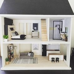 43 Ideas doll house barbie website for 2019 Dreamhouse Barbie, Doll House Plans, Barbie Dream House, Barbie Furniture, Modern Dollhouse Furniture, Miniature Houses, Miniature Dolls, Deco Design, Diy Dollhouse