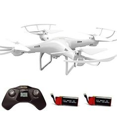 Cheerwing CW4 RC Drone with 720P HD Camera Altitude Hold Mode and One Key Take Off / Landing - 2.4Ghz 4CH RC Quadcopter Includes Bonus Battery