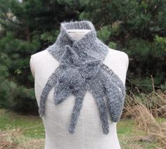 Grey wolf scarf, handmade soft scarf, crochet neck warmer, animal scarf, children scarf, grey, mohair yarn, wild animal, forest animal  Grey wolf — crocheted and partially knitted by myself, made of mohair yarn, with button eyes Length with paws and tail: 41 (104 cm), Width (not stretched, double sewed scarf): 4.5 (11.5 cm)  Hand wash and lay flat to dry  Handmade with love in a smoke-free house.  Ready to ship.   Please check dimensions carefully. Due to lighting conditions and monitor…