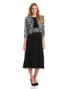 3279812a01d19 Jessica Howard Women's Inset Waist Dress, Black, 12 at Amazon Women's  Clothing store: