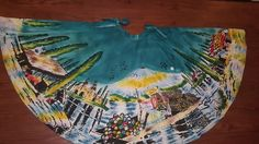 vintage rare 50s Mexican circle skirt hand painted