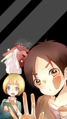 Eren, Armin, and Mikasa (Attack on Titan) -do not own-