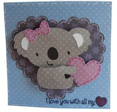 Cute Valentines Day Card : ) Love this.... can't wait to make with my new cartridge!
