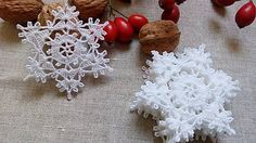 katval / *** háčkované snehové vločky - M***