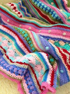 Ravelry: As-We-Go Stripey Blanket by Hannah Owens