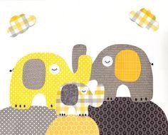 Yellow and Grey Nursery Artwork Print // Baby Room Decoration // Kids Room Decoration // Yellow and Grey Nursery // Gifts Under 20 art wall