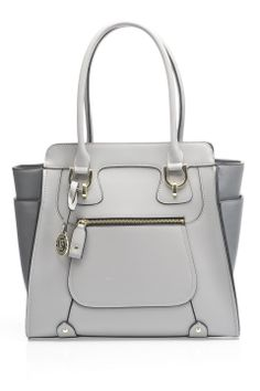 London Fog Holden Tote in Gray - Beyond the Rack