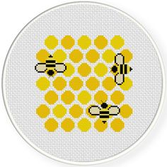 FREE for April 28th 2017 Only - Honey Comb Cross Stitch Pattern