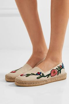 ff5ae6961cf Gucci - Embroidered leather espadrilles
