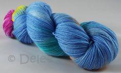Handgesponnen & -gefärbt - Handgefärbte Sockenwolle Trekking - ein…