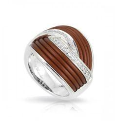 Belle Etoile Eterno Brown Ring