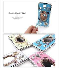 Cubic Mirror Phonecase. Mirror attached on black of cover.