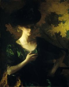 Frank W. Benson - Portrait of a Lady - 1901 - Oil on canvas.