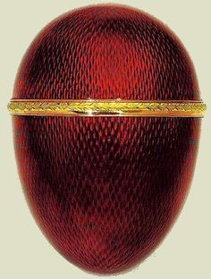 """The Scandinavian Egg (or The Quisling Egg) other Eggs, gold, enamel, diamonds, 1899 - 1903. Nowadays the word """"Quisling"""" means in Norwegian """"traitor"""", following the story of Vidkun Quisling executed as a traitor in 1945, the son of Jon Quisling, a major in the Norwegian Army who served as Military Attaché in Saint Petersburg in 1918 and 1919, where he probably acquired this Egg. Svyaz' Vremyon Fund - Viktor Vekselberg Collection - Moscow"""