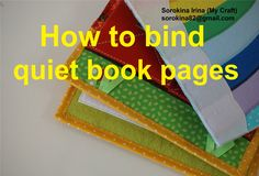 How to bind quiet book pages More