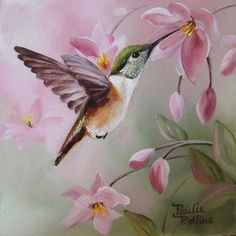Realistic Oil Painting Of Birds Realistic Oil Painting, Painting & Drawing, Hummingbird Painting, Bird Drawings, Bird Pictures, China Painting, Watercolor Bird, Wildlife Art, Art Portfolio