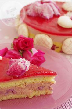 Entremets à la framboise, aux litchis et à la rose… Inspiration de l'Ispahan de Pierre Hermé !