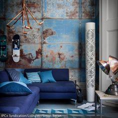 """Möbel Industrie Look : 000 Ideen zu """"Industrie Stil Wohnzimmer auf ..."""