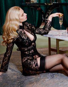 Seductive black lace robe Agent Provocateur!