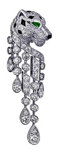 Cartier Pendant With Diamonds, Onyxes & Emeralds
