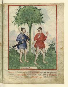 """Nouvelle acquisition latine 1673, fol. 101, """"Climat : vent"""". Tacuinum sanitatis - Italy - 1390-1400."""