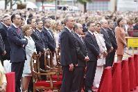 En la Misa de Infantes, en la Plaza de la Virgen de Valencia