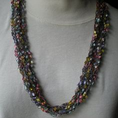 Easter Colors Trellis Necklace  956 by brendascraftstore on Etsy, $6.00