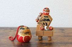 Items similar to Vintage Daruma Doll Bell and good fortune Daruma Japanese chess ornament good luck home decoration omamori on Etsy Vintage Gifts, Etsy Vintage, Vintage Shops, Vintage Items, Vintage Outfits, Vintage Style, Japanese Modern, Vintage Japanese, Daruma Doll