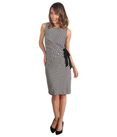Suzi Chin for Maggy Boutique Sleeveless Scoop Neck Side Pleat Dress...my fave dress for work at the moment.