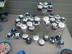 Collaboration with Ashley.  Bridal shower cupcakes