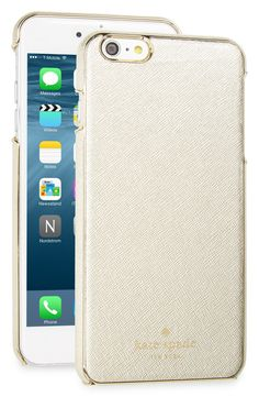 Loving this metallic gold iPhone case by Kate Spade for a chic and sophisticated update.