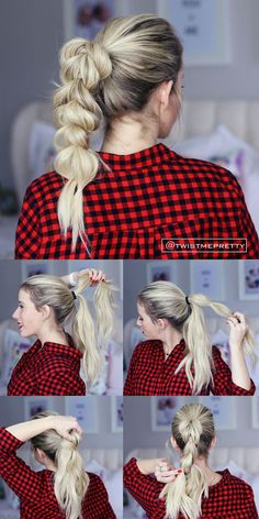 I love this pull through braid!! It looks so fancy but it's so easy!