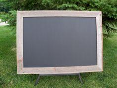 Barnwood Framed Chalkboard by BarnwoodInspirations on Etsy, $75.00