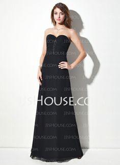 Evening Dresses - $138.79 - A-Line/Princess Sweetheart Floor-Length Chiffon Evening Dress With Ruffle Beading (017016056) http://jjshouse.com/A-Line-Princess-Sweetheart-Floor-Length-Chiffon-Evening-Dress-With-Ruffle-Beading-017016056-g16056