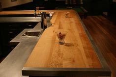 Salvaged Wood Bar Top   Basement   Pinterest   Wood Bars, Bar And Woods