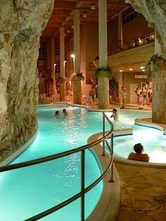 Thermal baths inside a cave - Miskolc Tapolca, Hungary …