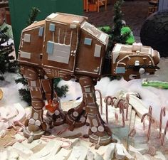AT-AT gingerbread!  Confession of the day: I'm a Star Wars nerd..