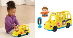 VTech Go! Go! Smart Friends Learning Wheels School Bus  Learning school bus!  Hop on over toToysRUsorSearswhere you can score thisVTech Go! Go! Smart Friends Learning Wheels School Busfor just $6.98 (regularly $19.99)!This Busfeatures 20 songs melodies sounds and phrases and a stoplight accessory that connects to other Go! Go! Smart Friends playsets.  VTech Go! Go! Smart Friends Learning Wheels School Bus Only $6.98 (Reg. $19.99)  3 MagicPoint locations bring Go! Go! Smart Friends characters…