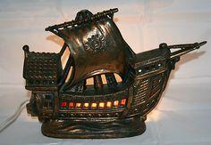 Vintage 1930's Cast Metal SHIP Lamp TV or Radio Lamp as Is | eBay
