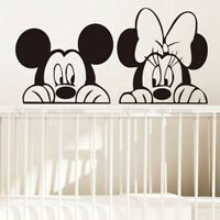 Cartoon Mickey Minnie Mouse Vinyl Wall Sticker Decal Kids Baby Room Nursery Home Simple Wall Paintings, Creative Wall Painting, Wall Painting Decor, Diy Room Decor For Teens, Kids Wall Decor, Animal Wall Decals, Vinyl Wall Stickers, Minnie Mouse Wall Decals, Cartoon Wall