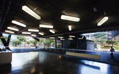 Luminarias Hielo en el Museo de Arte Moderno de Medellin.