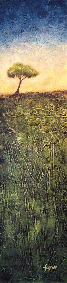 Journée de bonheur, mixte, 48 x 12, Catherine Fagnan artiste peintre www.catherinefagnan.com Les Oeuvres, Celestial, Mountains, Nature, Travel, Outdoor, Figurative, Abstract Backgrounds, Visual Arts