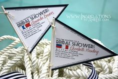 Nautical Flag Invitations by InspirationsbyAmieLe